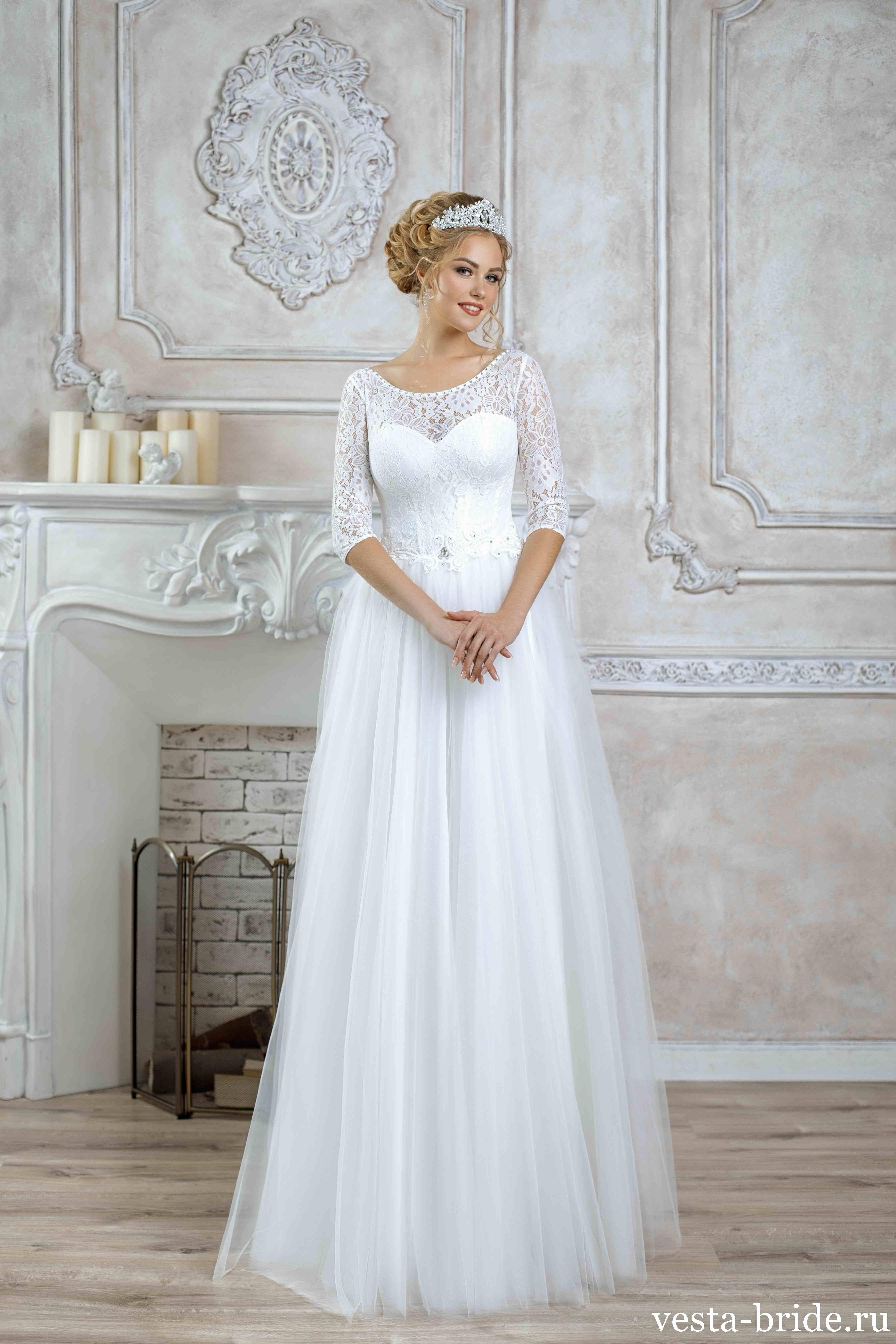 c5741dcce6f6daa Закрытое свадебное платье А-силуэта Alice: качественные и ...
