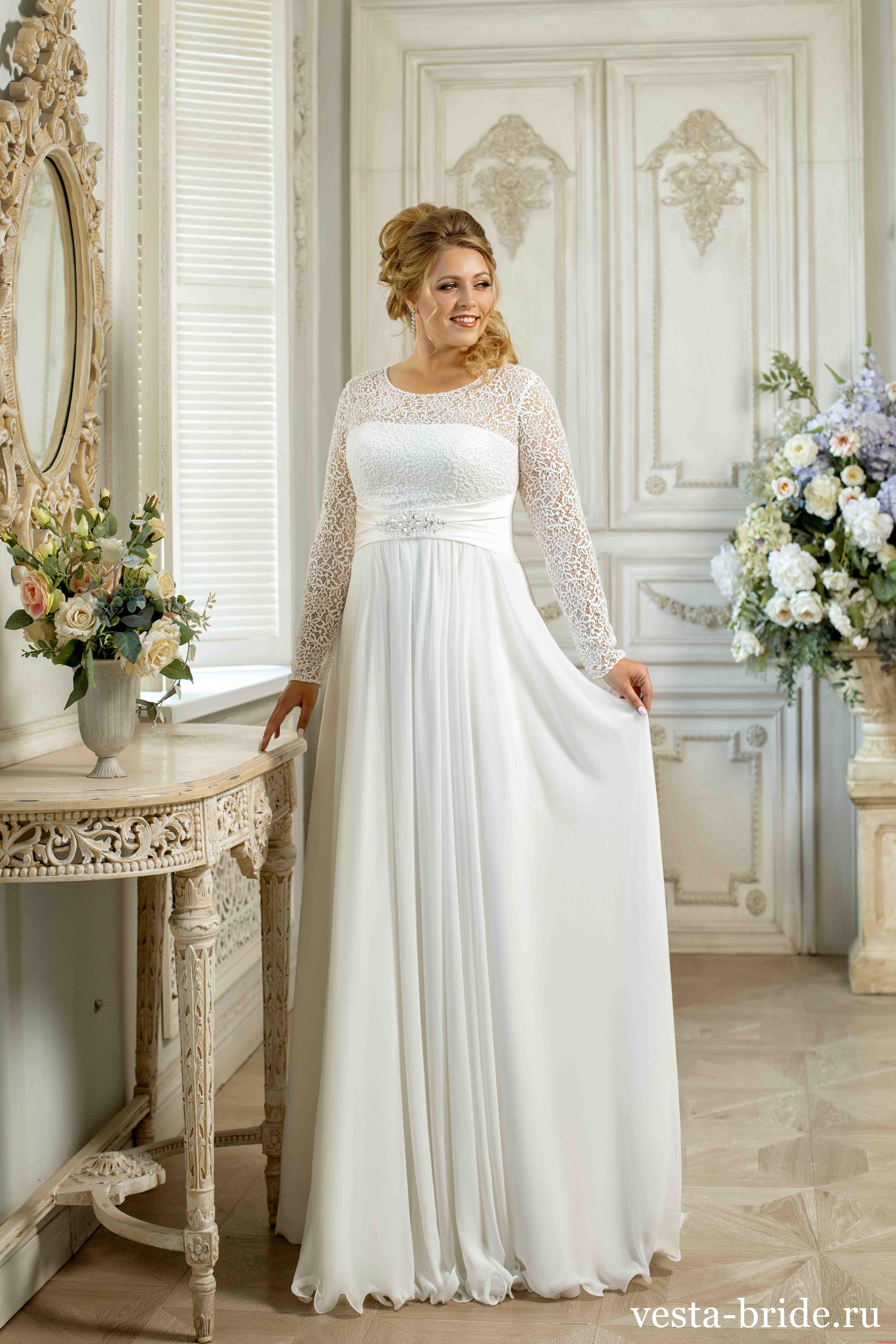 Свадебный букет к платью в стиле ампир, купить
