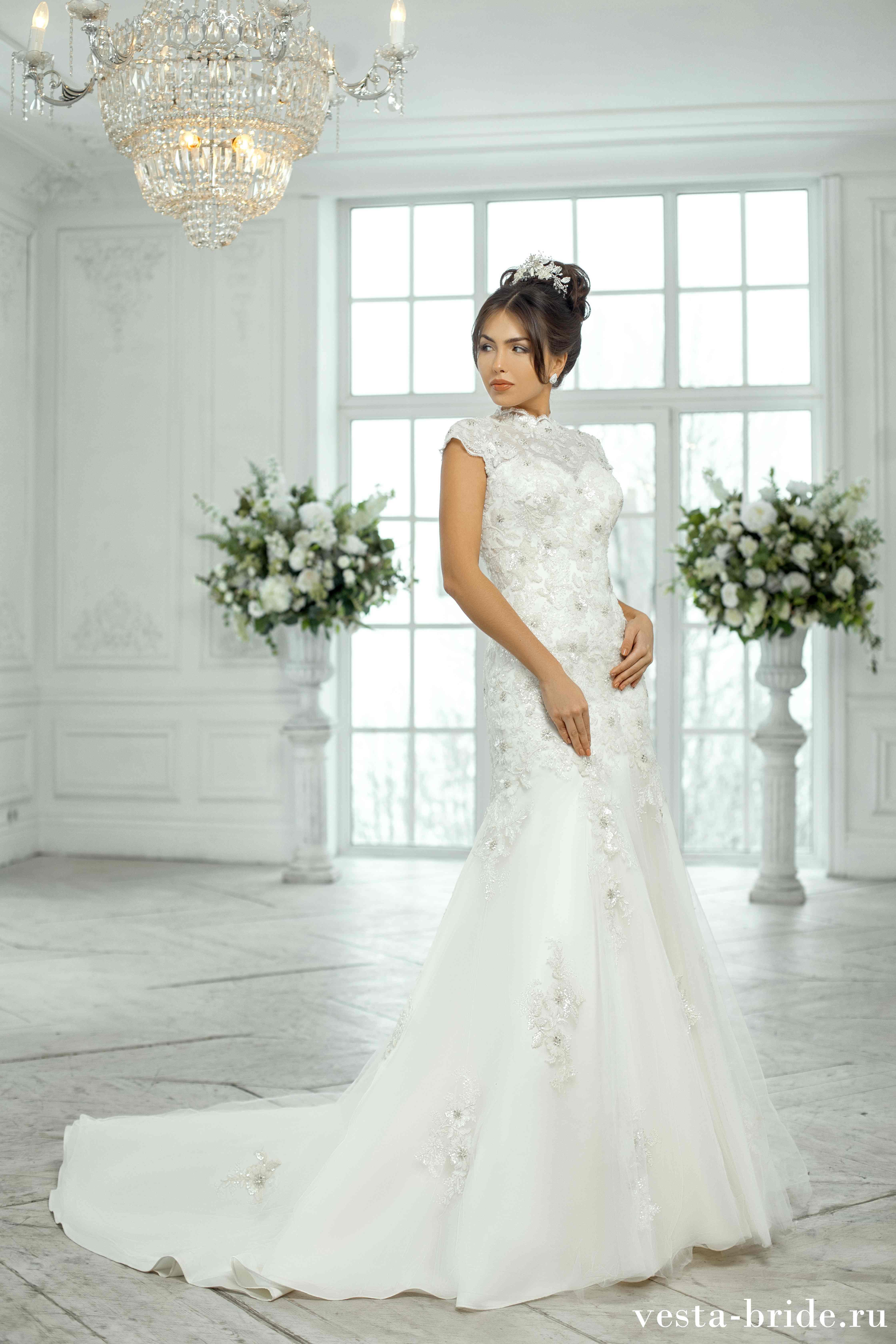 118dc9e3722 Кружевное свадебное платье Гортензия  новинки и лучшие модели ...