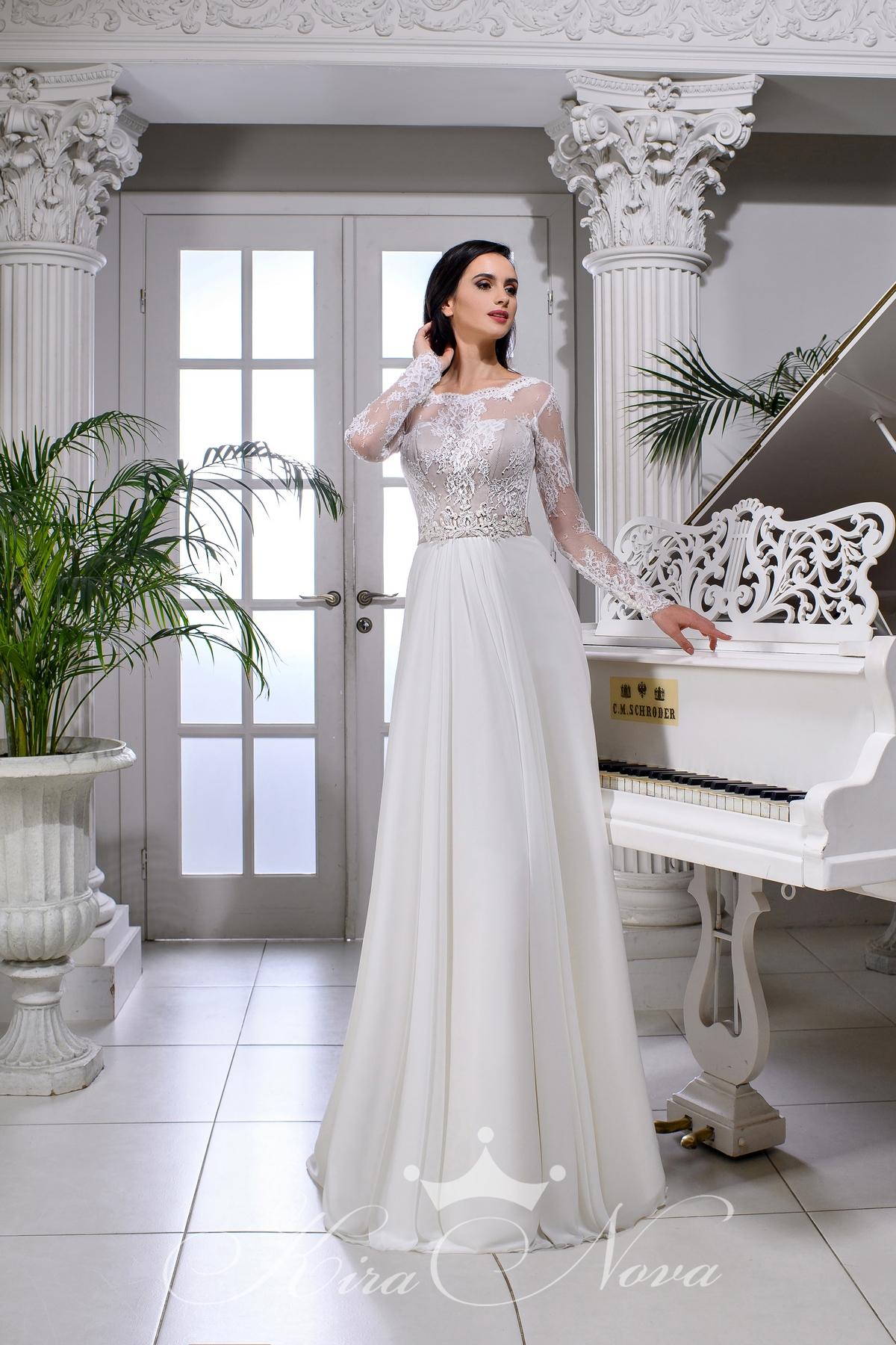 3fa2f429f89 Закрытое свадебное платье Ампир (в греческом стиле) Milva  новинки и ...