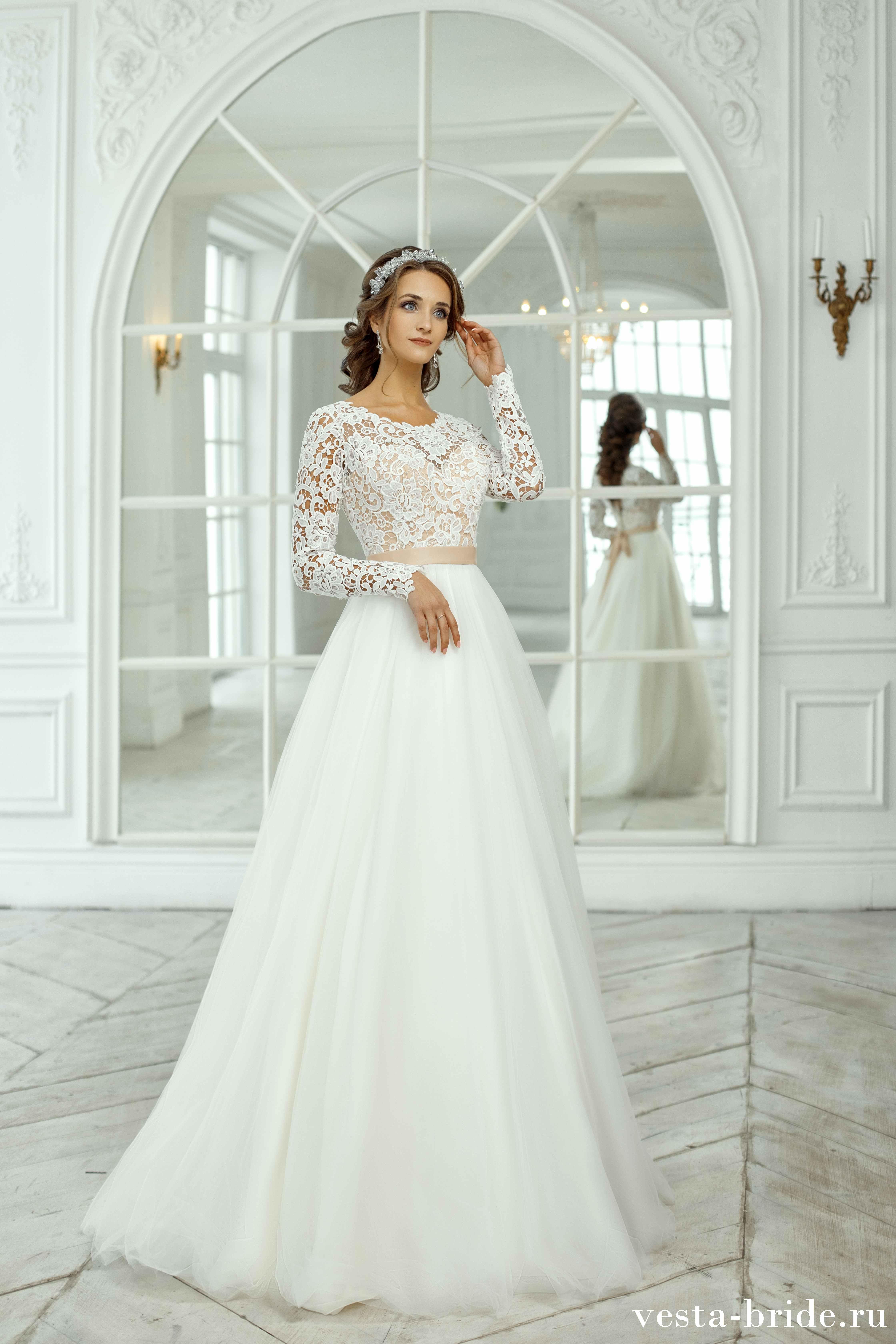 юбки-тюльпан может фото свадебных платьев с закрытыми руками двухлетнем